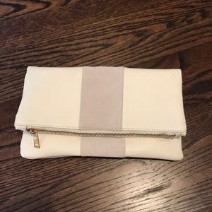 White and grey clutch
